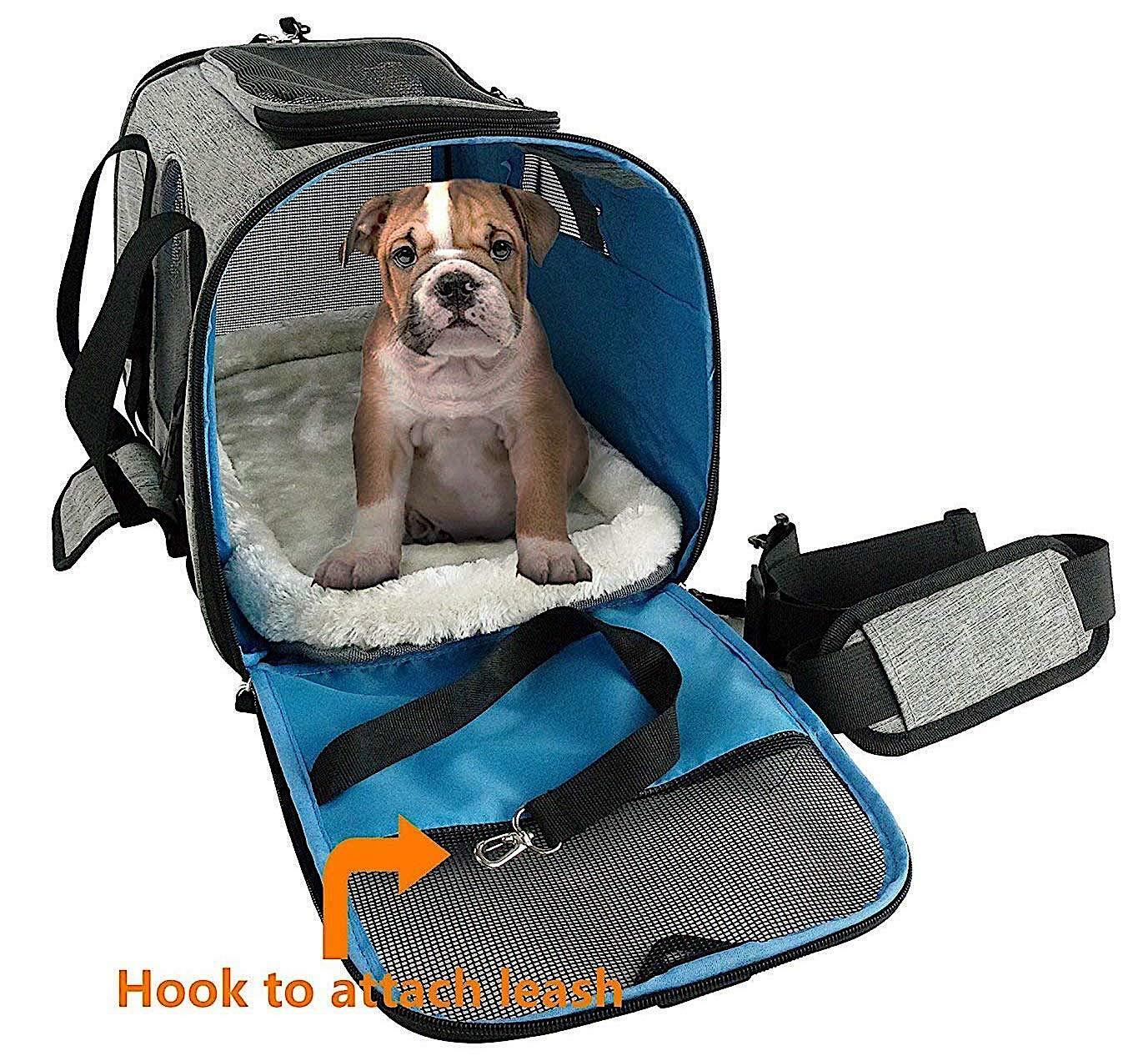 Pet Carrier Soft Sided Large Cat Dog Comfort Travel Bag