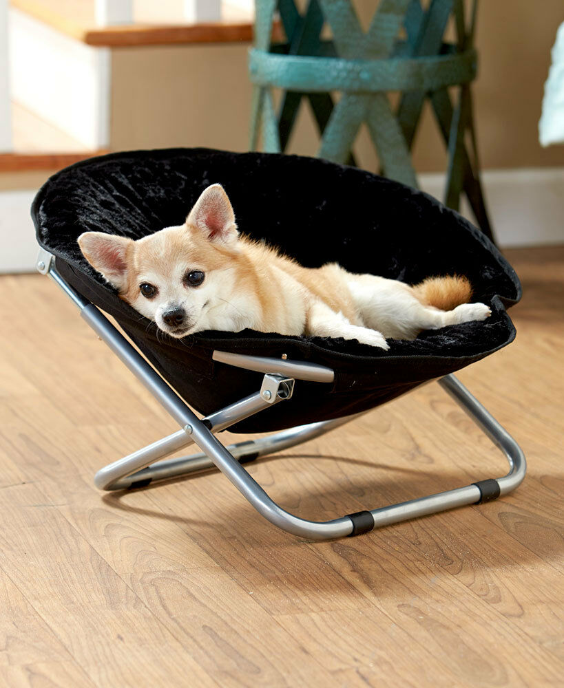 SMALL ROUND FOLDABLE 1 COLOR PET BED CHAIR COUCH FOLDING ...