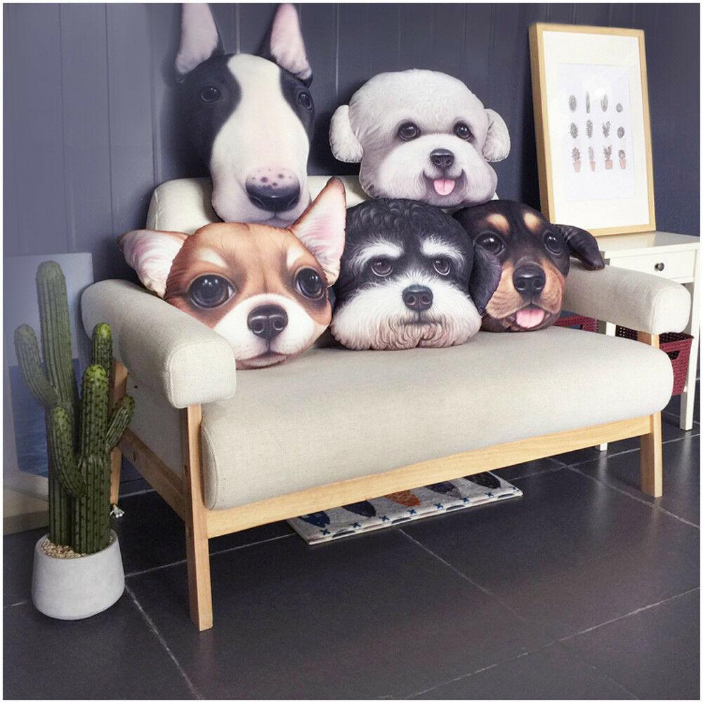 Cute Dog Cushion Cover Pillow Cases Pillowcase Teddy Chihuahua Home Sofa Décor